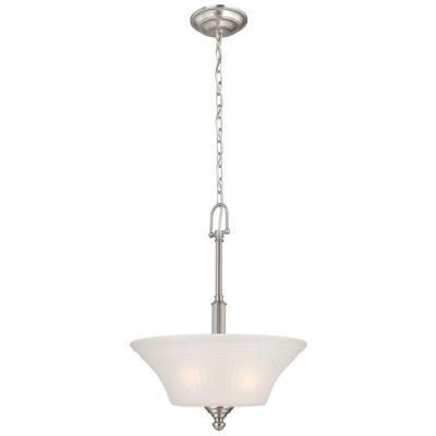 Commerical Electric3-Light Brushed Nickel Pendant