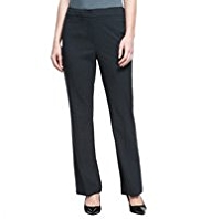 M&S Collection Straight Leg Flat Front Trousers