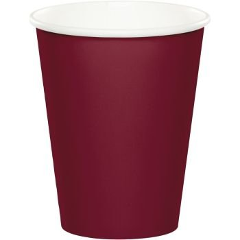 Cups - 9 oz Hot or Cold, Burgundy