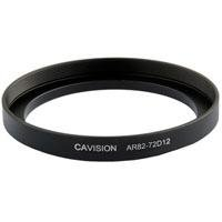 Cavision Medium-Thick Step-Up Ring, Front 82mm Thread (85mm OD), Rear 72mm Thread, Depth 12mm