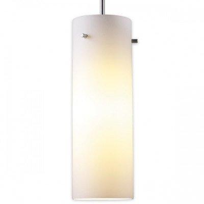 """Titan 1 Light Mini Pendant Finish: Matte Chrome, Canopy/Bulb Type: 2"""" Kiss Canopy/Led, Glass Color: White"""