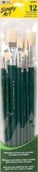 Bulk Buy: Loew-Cornell Simply Art Bristle Brush Set 12/Pkg 12/Pkg S1021082 (3-Pack)