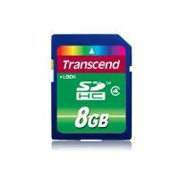 Transcend SDHC 8GB Standard Class 4 Memory Card (TS8GSDHC4)