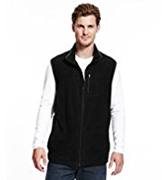 Funnel Neck Micro Fleece Gilet