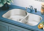 "Elkay ELUH3119R Lustertone 31"" x 19"" Double Bowl Undermount Kitchen Sink Stainle"