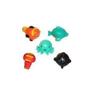 SEA MANIA - Complete Set of 5 RARE Squishies W/ GAME CODES FOR SQWISHLAND WEBSITE