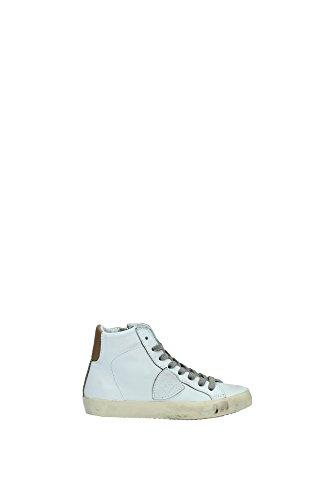 Sneakers Philippe Model Bambino Pelle Bianco e Marrone CLH0L05B Bianco 30EU