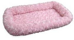 Nap Pet Bed Ultra Plush Bolster Pet Bed, Strawberry, 24-Inch By 36-Inch