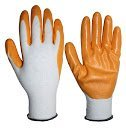 3 Pack Nitrile Coating Garden Glove, Orange
