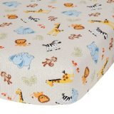 Bedtime Originals Jungle Buddies Sheet, Brown/Yellow
