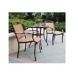 Mainstays Sand Dune 3-Piece Outdoor Bistro Set, Seats