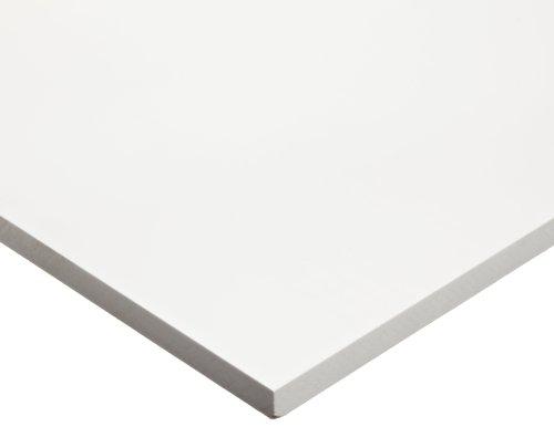 PVC (Polyvinyl Chloride) Sheet, Opaque White, Standard Tolerance, UL 94, 1/8