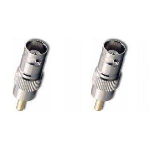 Imagen de VideoSecu 4 Pack de 100 pies pies de vídeo Cables eléctricos Cables de extensión de la cámara de seguridad con cables gratis BNC conectores RCA para el Sistema de Vigilancia CCTV DVR Inicio C18