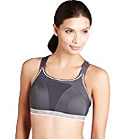 Extra High Impact Non-Wired Sports A-G Bra