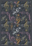 "Joy Carpets Kid Essentials Music & Special Needs Virtuoso Rug, Gray, 7'8"" x 10'9"""