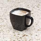 Emi Yoshi Koyal Solid Square Espresso Mugs, 2-Ounce, Black, Set Of 96
