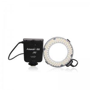 Aputure Amaran Halo HN100 CRI 95«LED Ring Lumière Flash pour Nikon D7100 D7000 D5200 D5100 D800 D700 D600 D800E D90 Caméra