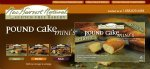 New Harvest Naturals Pound Cake Minis Classic - Case of 6 Packages, Each Containing 5 Individually Wrapped Cakes