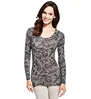 Heatgen™ Lace Print Thermal Top