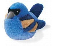 Blue Grosbeak - Audubon Plush Bird (Authentic Bird Sound) - 1