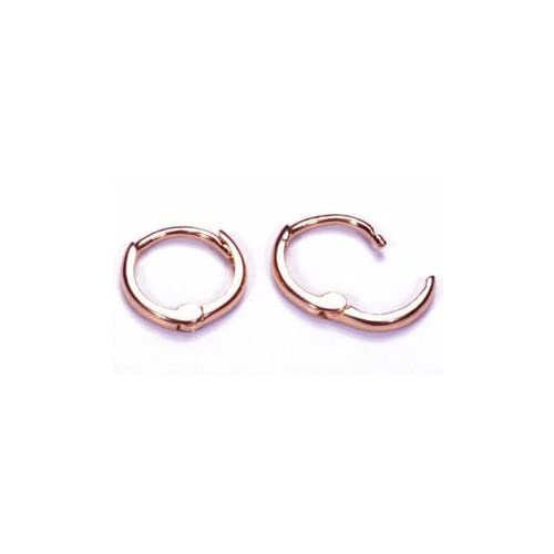 Thick: 2mm Diameter: 55mm, GOLD Classic Fashion Top Click Closure Stainless Steel Hoop Earrings