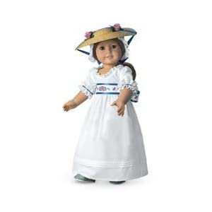 American Girl Felicity Summer Gown, Hat & Slippers
