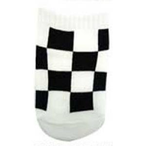 Checker Baby Socks Black and White Racing