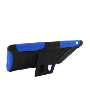 Eagle Cell Rugged Skin Case with Stand for iPad 2 - Blue/Black (PRIPADMINISPSTBLBK) from Eagle Cell