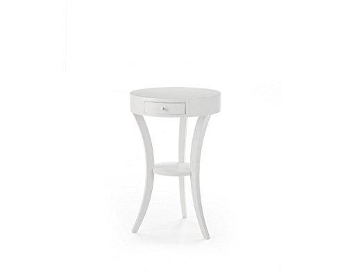 Tavolino rotondo laccato D.45x70H