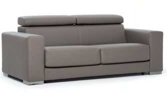 "Sofa bed 2 seater ""George"" with adjustable headrest"