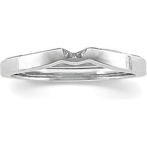 Platinum 2.5mm Band for Tulipset Solitaire Mounting: Size 3 Size: 8