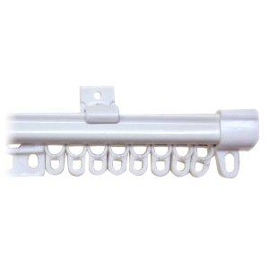 角型伸縮カーテンレール シングル プレーンホワイト 1.1~2.0m