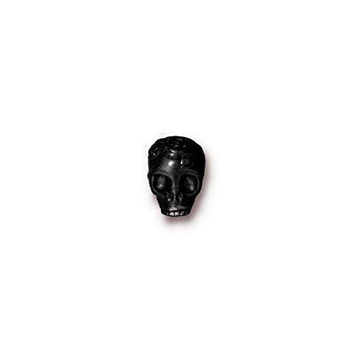 TierraCast Skull Rose, 10mm, Horizontal Hole Black by TierraCast