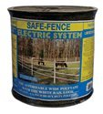 Powerfields H-3 Safe-Fence 825-Feet Roll Safe Fence With Poly Tape, 1.5-Inch, White