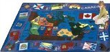 "Joy Carpets Kid Essentials Geography & Environment Flags of Canada Rug, Multicolored, 7'8"" x 10'9"""