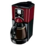 Mr. Coffee FTX49 12-Cup Programmable Coffeemaker, Black/Red