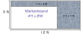 Combo-Rite Modular Boards - Type D Reverse (Le' Tack) 5'H x 12'W