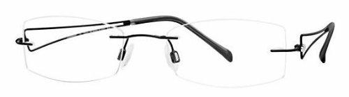 CHARMANT Titanium Eyeglasses 10923E Black BK Optical Frame