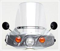 ホンダ純正品 バイクスクリーン ウインドシールド 丸型ランプ用 スーパーカブ / プレスカブ 他