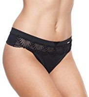 Rosie for Autograph Deco Embroidered Thong Knickers