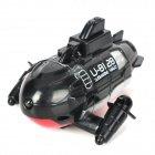 22011-01 Radio Remote Control 3-Channel Mini Submarine - Black