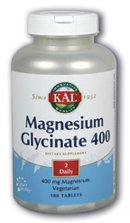 KAL - Magnesium Glycinate, 400 mg, 180 tablets