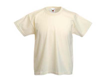 Kinder T-Shirt Valueweight; Elfenbein,164 164,Elfenbein