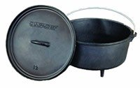 CAMP CHEF 9 1/3 QT SEASONED CAST IRON CAMP OVEN – DO12