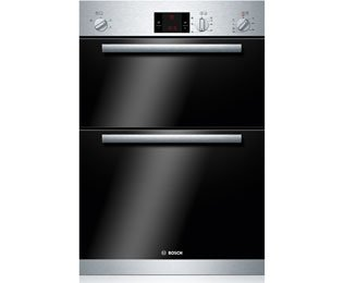 Bosch Serie 6 HBM13B151B Built In Double Oven - Brushed Steel. It Will Perfeclty Look Great Built Into Your Kitchen
