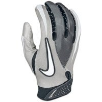 Buy Nike Mens Xlarge Vapor Jet Mesh Receiver Gloves Gray Xlarge by Nike
