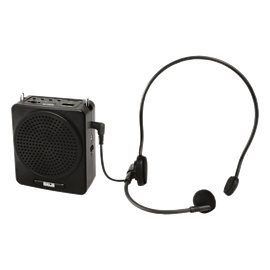 AHUJA PORTABLE PA NECKBAND SYSTEM NBA-20DP RECHARGEABLE WITH 1 NECKBAND MIC WITH USB AND SD CARD INPUT (NBA-20DP)
