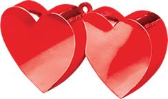 Double Heart Balloon Weight 6oz - 1