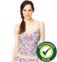 Ditsy Floral Print Bandeau Tankini Top
