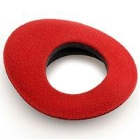 Zacuto Bluestar Eyepiece Chamois - Oval Large, Red for Z-Finder Line Viewfinders